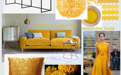 Style * Hello Spring! Fresh off the Catwalk into Your Home – The Future's Marigold